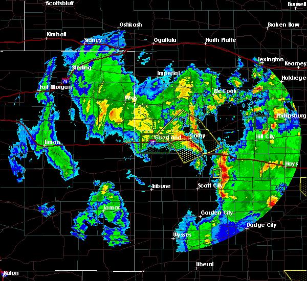 Radar Image for Severe Thunderstorms near Menlo, KS at 5/24/2020 11:06 PM CDT