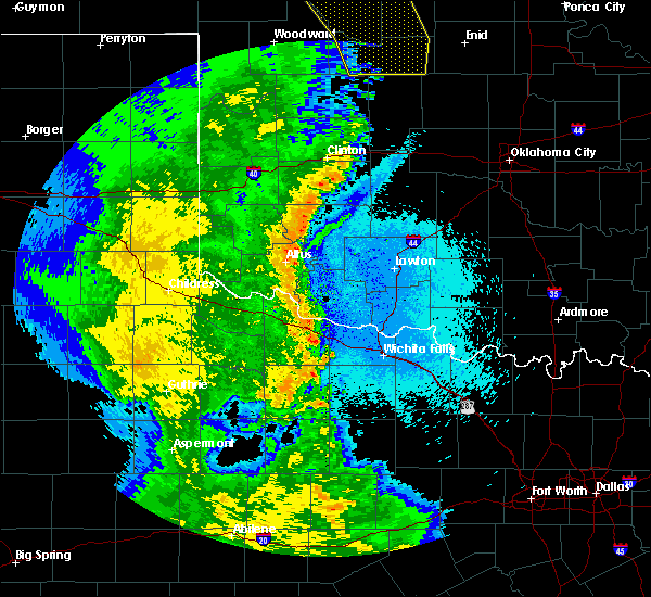 Radar Image for Severe Thunderstorms near Elmer, OK at 5/24/2020 11:07 PM CDT