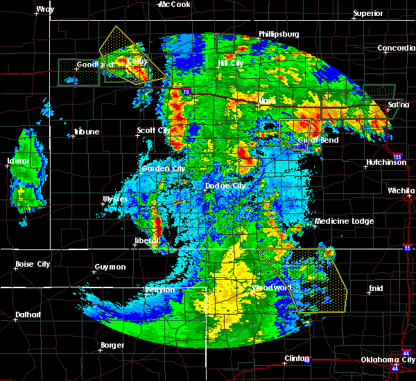 Radar Image for Severe Thunderstorms near Susank, KS at 5/24/2020 11:11 PM CDT