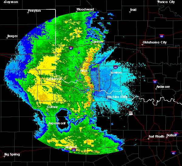 Radar Image for Severe Thunderstorms near Elmer, OK at 5/24/2020 11:27 PM CDT