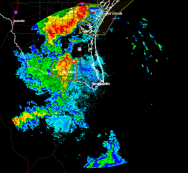 Radar Image for Severe Thunderstorms near Mission, TX at 5/24/2020 11:57 PM CDT