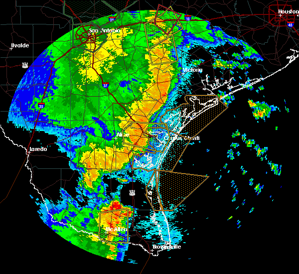 Radar Image for Severe Thunderstorms near Portland, TX at 5/25/2020 12:02 AM CDT