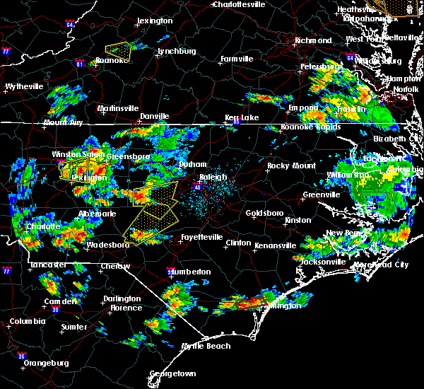 Radar Image for Severe Thunderstorms near Pinehurst, NC at 6/27/2015 5:38 PM EDT