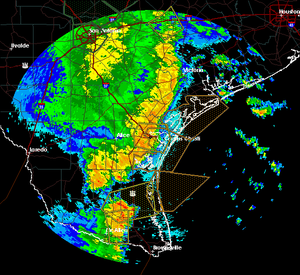 Radar Image for Severe Thunderstorms near Portland, TX at 5/25/2020 12:13 AM CDT