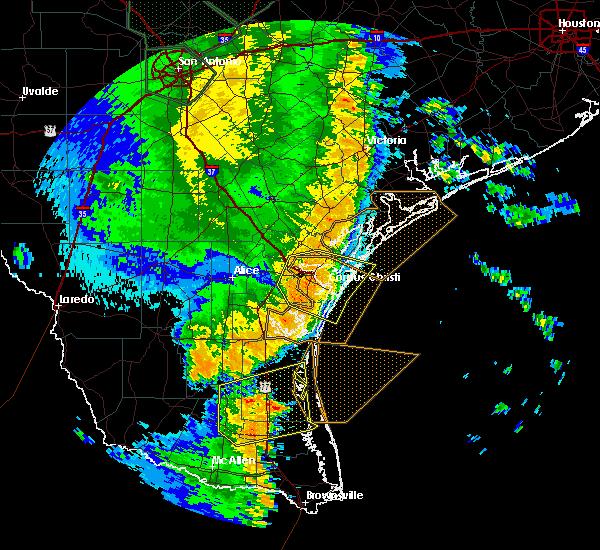 Radar Image for Severe Thunderstorms near Aransas Pass, TX at 5/25/2020 12:35 AM CDT