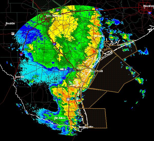 Radar Image for Severe Thunderstorms near Aransas Pass, TX at 5/25/2020 12:56 AM CDT