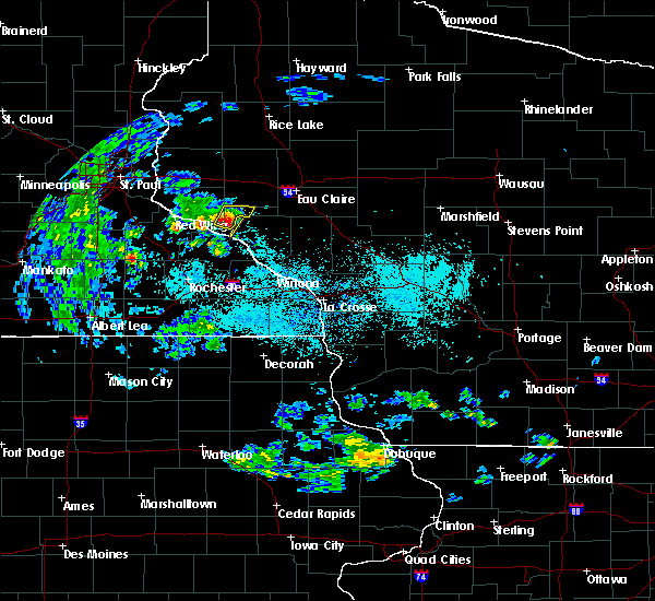 Radar Image for Severe Thunderstorms near Durand, WI at 5/25/2020 8:47 AM CDT