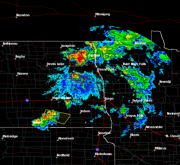 Radar Image for Severe Thunderstorms near Grand Forks AFB, ND at 6/27/2015 4:44 PM CDT