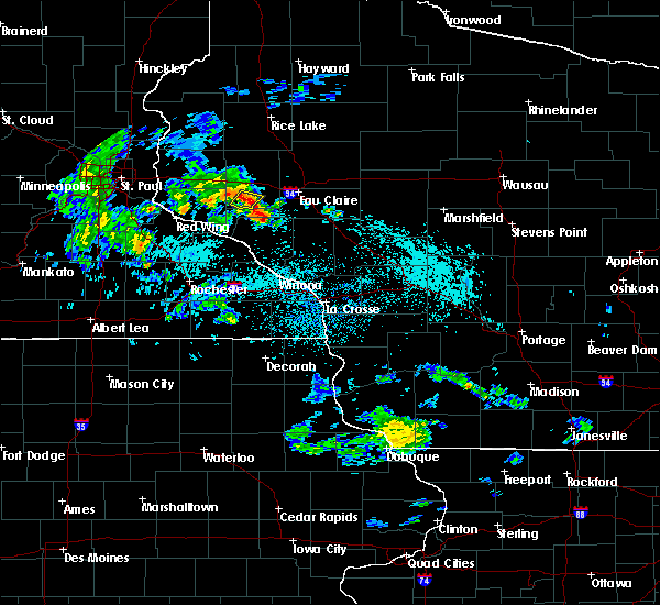 Radar Image for Severe Thunderstorms near Downsville, WI at 5/25/2020 9:24 AM CDT