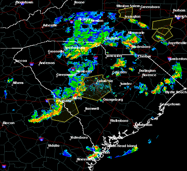 Radar Image for Severe Thunderstorms near Hopkins, SC at 6/27/2015 5:45 PM EDT