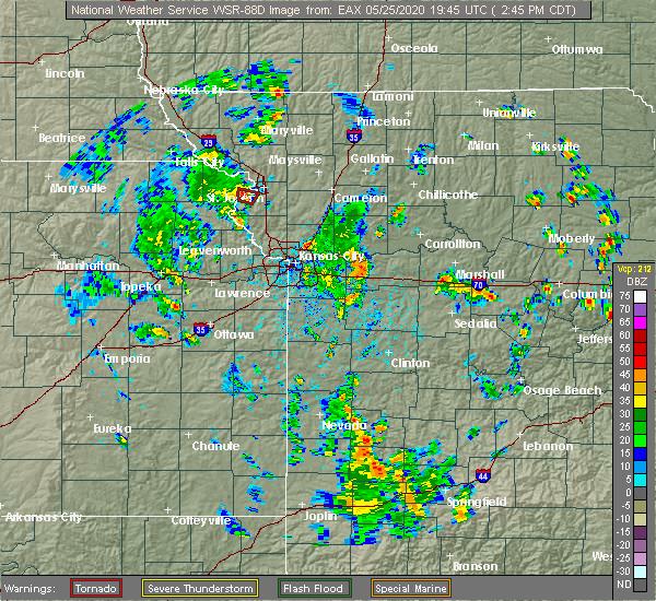 Radar Image for Severe Thunderstorms near St. Joseph, MO at 5/25/2020 2:48 PM CDT