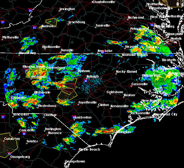 Radar Image for Severe Thunderstorms near Moncure, NC at 6/27/2015 5:47 PM EDT