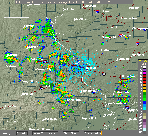 Radar Image for Severe Thunderstorms near Eolia, MO at 5/25/2020 3:14 PM CDT