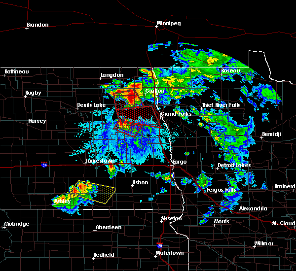 Radar Image for Severe Thunderstorms near Inkster, ND at 6/27/2015 4:50 PM CDT