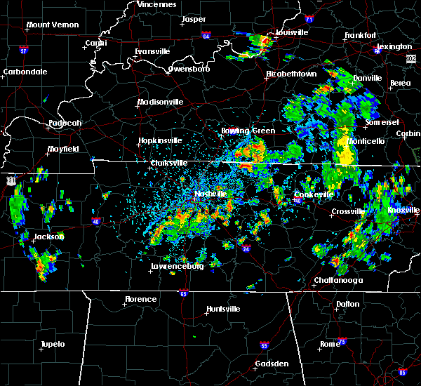 Radar Image for Severe Thunderstorms near Westmoreland, TN at 5/25/2020 3:47 PM CDT