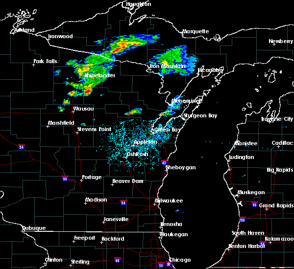 Radar Image for Severe Thunderstorms near Summit Lake, WI at 5/25/2020 3:52 PM CDT