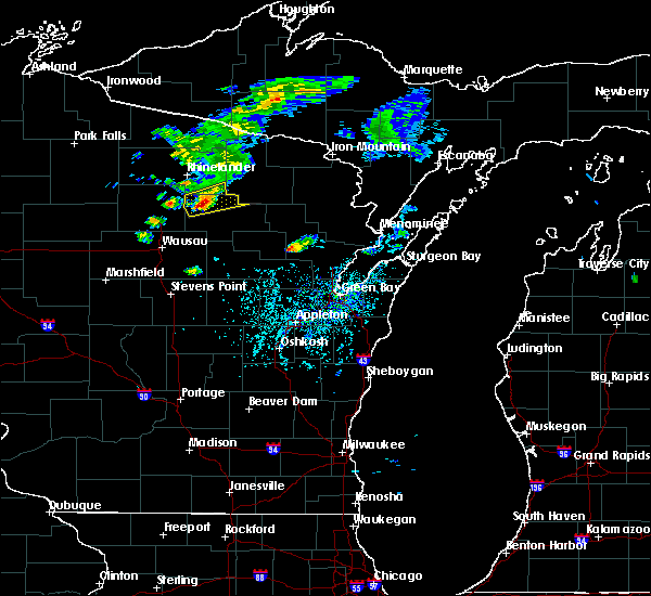 Radar Image for Severe Thunderstorms near Summit Lake, WI at 5/25/2020 4:02 PM CDT