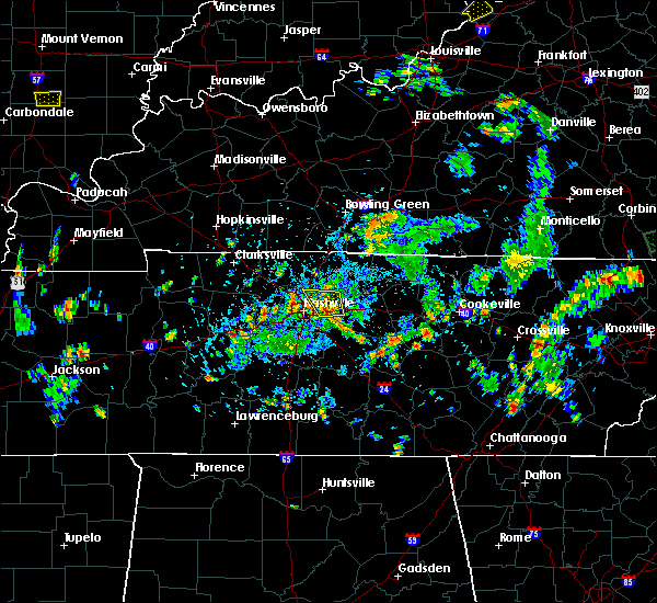 Radar Image for Severe Thunderstorms near Mount Juliet, TN at 5/25/2020 4:14 PM CDT