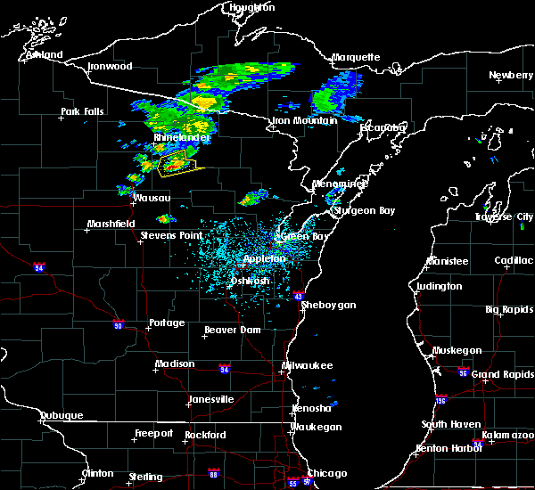 Radar Image for Severe Thunderstorms near Summit Lake, WI at 5/25/2020 4:16 PM CDT