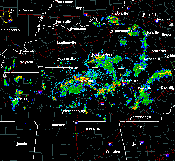 Radar Image for Severe Thunderstorms near Mount Juliet, TN at 5/25/2020 4:35 PM CDT