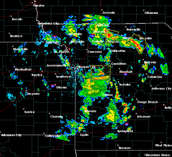Radar Image for Severe Thunderstorms near Callao, MO at 5/25/2020 4:50 PM CDT