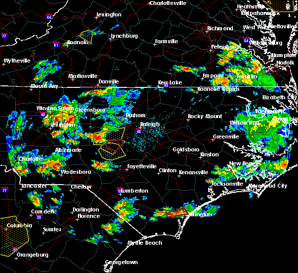 Radar Image for Severe Thunderstorms near Sanford, NC at 6/27/2015 5:54 PM EDT