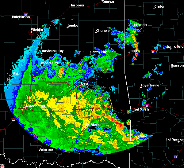 Radar Image for Severe Thunderstorms near Muskogee, OK at 5/25/2020 5:28 PM CDT