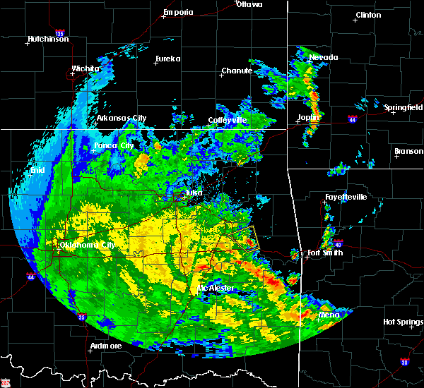 Radar Image for Severe Thunderstorms near Muskogee, OK at 5/25/2020 5:33 PM CDT