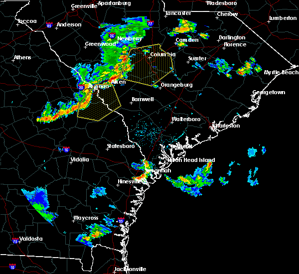 Radar Image for Severe Thunderstorms near Belvedere, SC at 6/27/2015 5:57 PM EDT