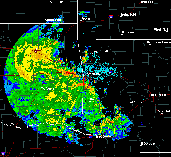 Radar Image for Severe Thunderstorms near Rock Island, OK at 5/25/2020 6:21 PM CDT