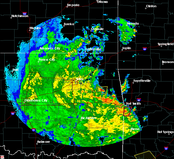 Radar Image for Severe Thunderstorms near Murphy, OK at 5/25/2020 6:29 PM CDT