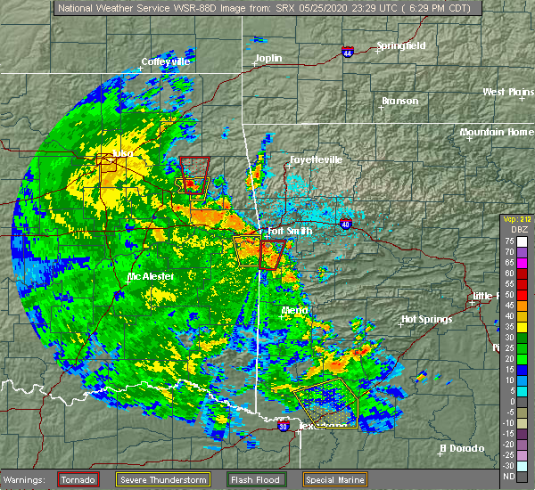 Radar Image for Severe Thunderstorms near Rock Island, OK at 5/25/2020 6:32 PM CDT