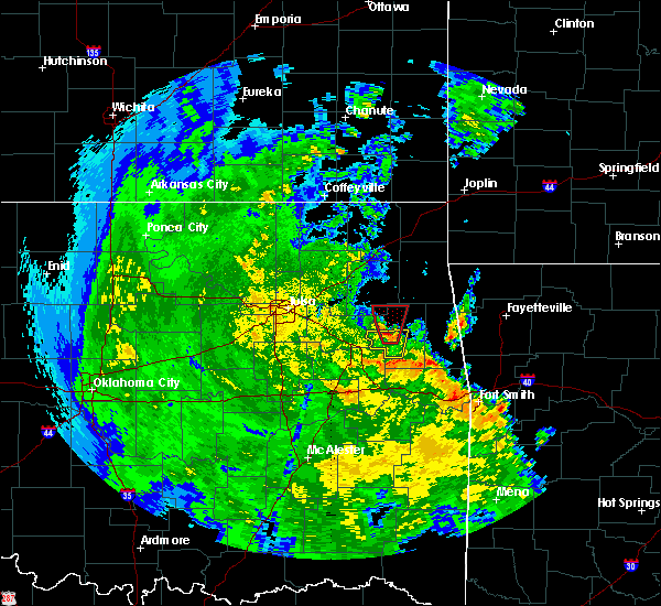 Radar Image for Severe Thunderstorms near Park Hill, OK at 5/25/2020 6:39 PM CDT