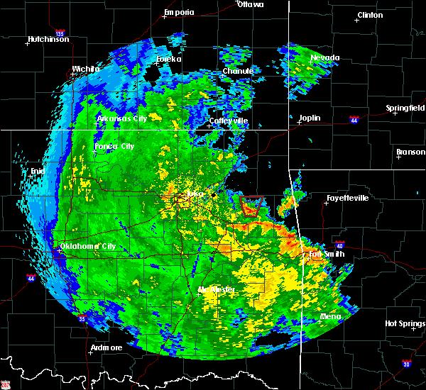 Radar Image for Severe Thunderstorms near Gideon, OK at 5/25/2020 6:55 PM CDT