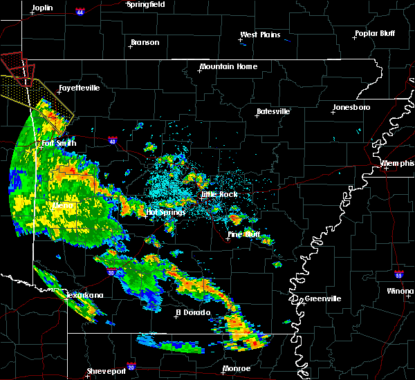Radar Image for Severe Thunderstorms near Little Rock, AR at 5/25/2020 7:47 PM CDT