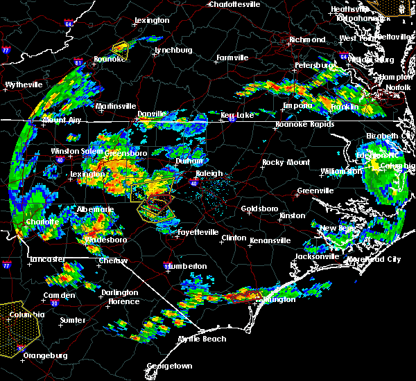 Radar Image for Severe Thunderstorms near Moncure, NC at 6/27/2015 6:00 PM EDT