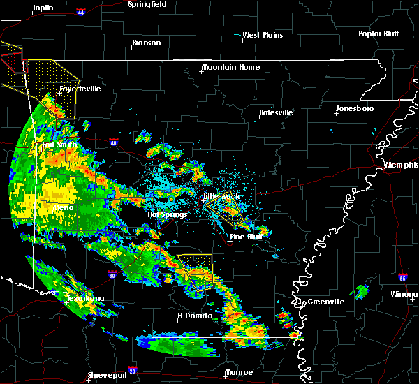 Radar Image for Severe Thunderstorms near Little Rock, AR at 5/25/2020 8:03 PM CDT