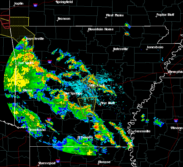 Radar Image for Severe Thunderstorms near Sherwood, AR at 5/25/2020 8:36 PM CDT