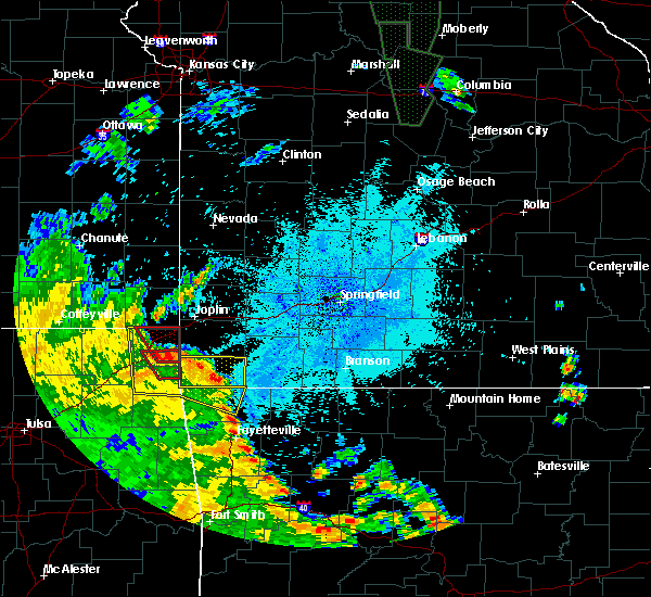 Radar Image for Severe Thunderstorms near Joplin, MO at 5/25/2020 9:03 PM CDT