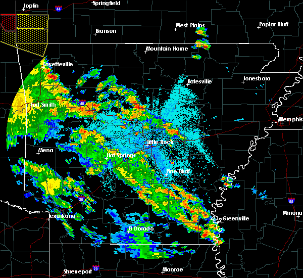 Radar Image for Severe Thunderstorms near Little Rock, AR at 5/25/2020 9:13 PM CDT