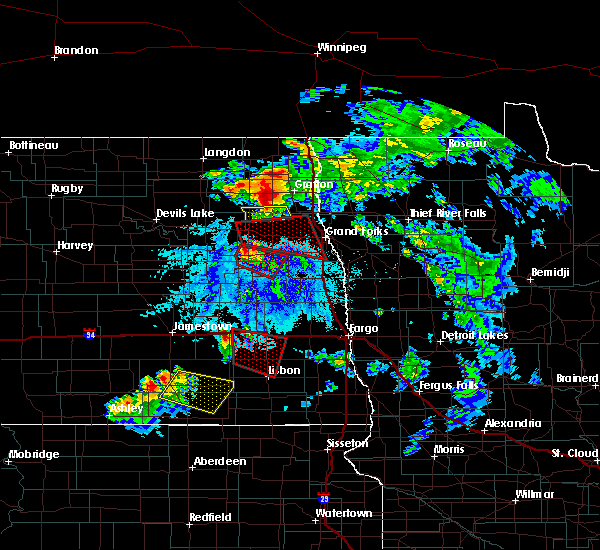 Radar Image for Severe Thunderstorms near Inkster, ND at 6/27/2015 5:06 PM CDT