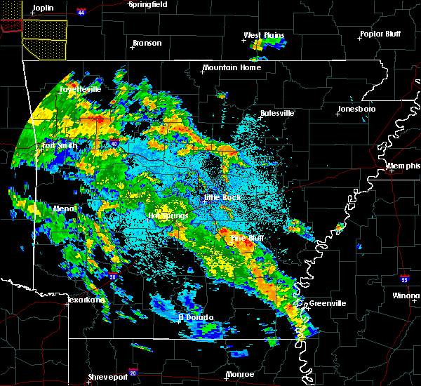 Radar Image for Severe Thunderstorms near Clinton, AR at 5/25/2020 9:43 PM CDT