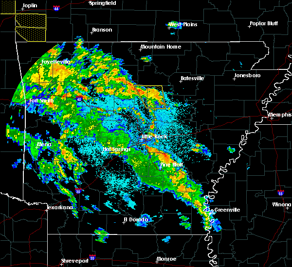 Radar Image for Severe Thunderstorms near Tumbling Shoals, AR at 5/25/2020 10:07 PM CDT