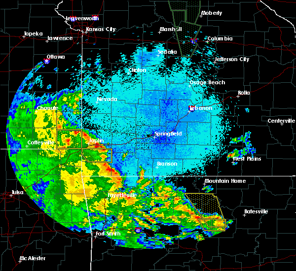 Radar Image for Severe Thunderstorms near Joplin, MO at 5/25/2020 10:09 PM CDT