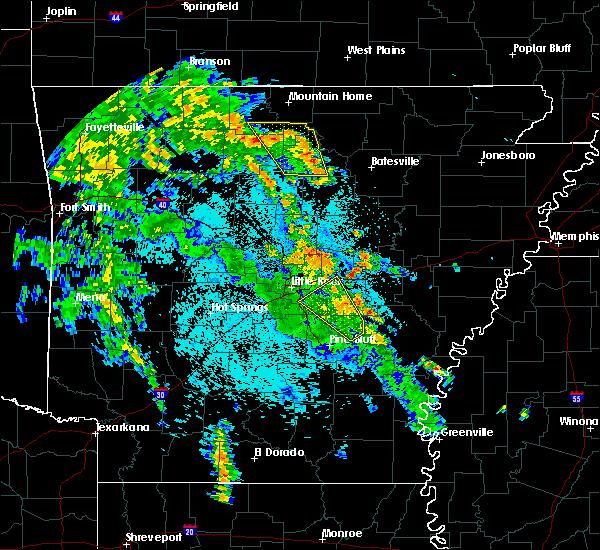 Radar Image for Severe Thunderstorms near Center Ridge, AR at 5/25/2020 10:42 PM CDT