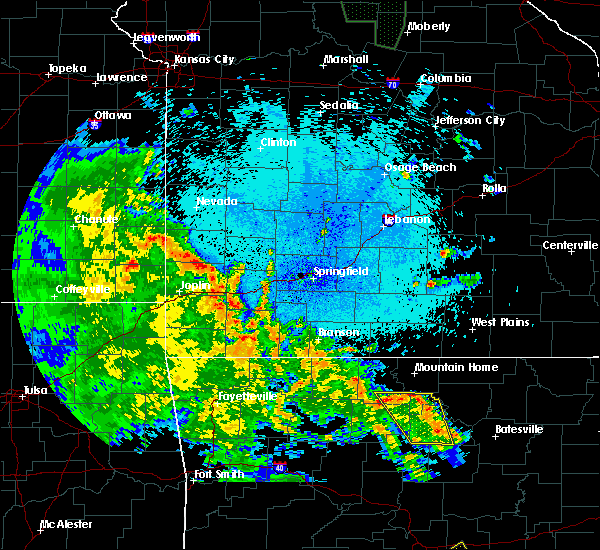 Radar Image for Severe Thunderstorms near Mountain Home, AR at 5/25/2020 10:45 PM CDT