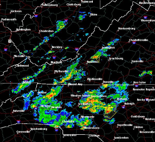 Radar Image for Severe Thunderstorms near Bedford, VA at 6/27/2015 6:10 PM EDT