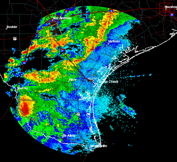 Radar Image for Severe Thunderstorms near Falcon Mesa, TX at 5/26/2020 12:43 AM CDT