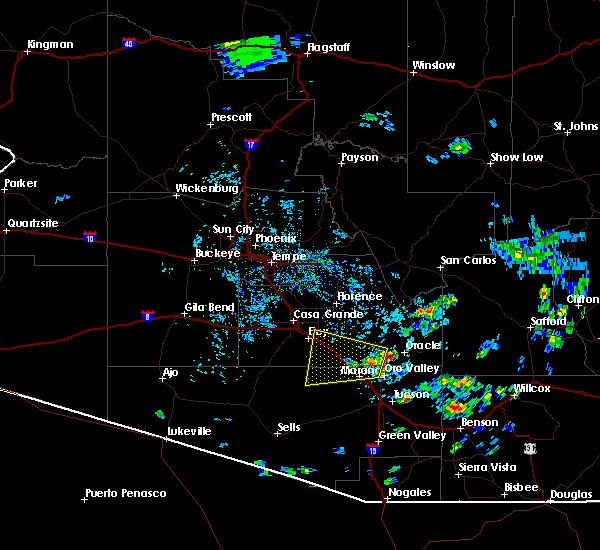 Radar Image for Severe Thunderstorms near Marana, AZ at 6/27/2015 3:14 PM MST
