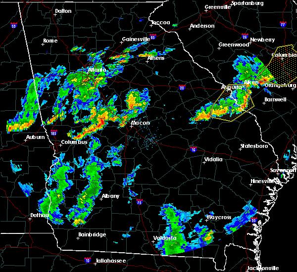 Radar Image for Severe Thunderstorms near Macon, GA at 6/27/2015 6:16 PM EDT